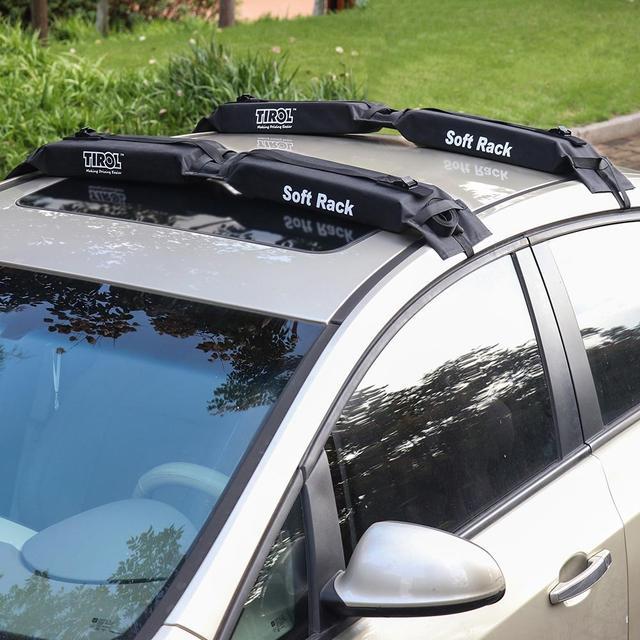 Porte-bagages sur le toit de voiture, universel, souple, pour l'extérieur, charge 60kg, facile à installer, amovible, 600D Oxford et PVC 3