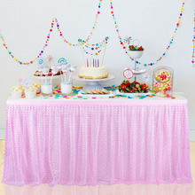 Pink Tulle Table Skirt Fluffy Tableware Tablecloth For Birthday Party Wedding Banquet Home Decoration Nice Sweet Table Skirt 4 color handmade tulle tableware tablecloth for party wedding banquet home decoration nice sweet table skirt