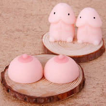 High quality cute small Tintin soft rubber large breasts squeeze spoof creative decompression toys