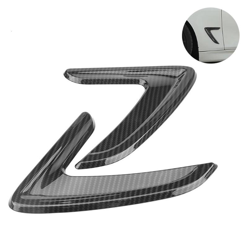 2Pcs Car Side Air Vent Cover Trim Fender Sticker For BMW 3 Series F30 2012 2013 2014 2015 2016 Carbon Fiber ABS Car Stickers