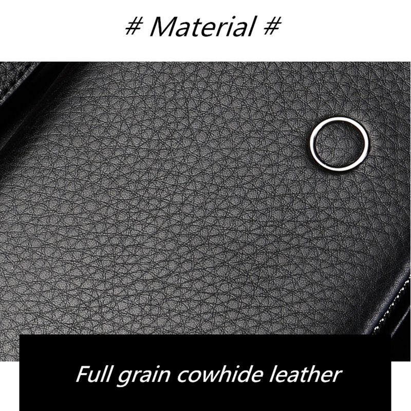 Image 5 - BISON DENIM Genuine Leather Wallet Men Luxury Brand Phone Wallet Zipper Coin Long Purse Large Business Male Wallet N8252Wallets   -