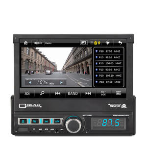 Mp5-Player Car-Radio Stereo Electric-Retractable-Screen 1-Din Single 7inch Support HD