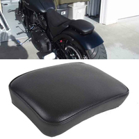 รถจักรยานยนต์ด้านหลังผู้โดยสาร Pillion 6 ถ้วยดูดสังเคราะห์หนังที่นั่ง Pad สีดำสำหรับ Harley 26.5*18*5 ซม.| |   -