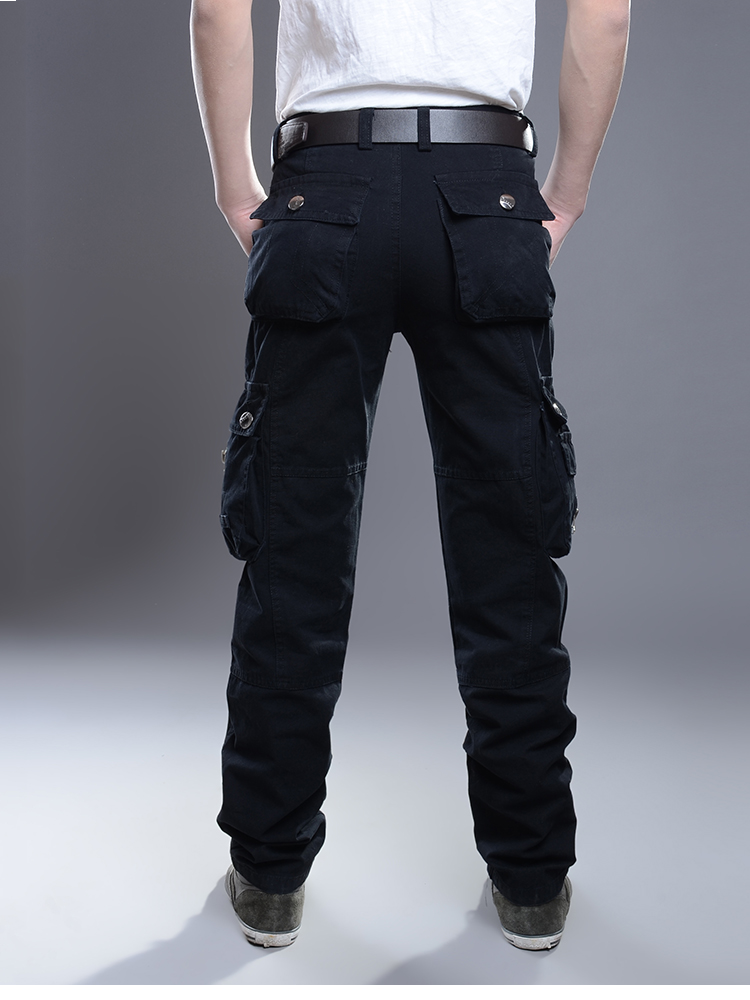 KSTUN New Cargo Pants for Men Baggy Casual Pants Male Overalls Full Length Trousers Loose Straight Cut Pants Zippers Pockets Desinger 18