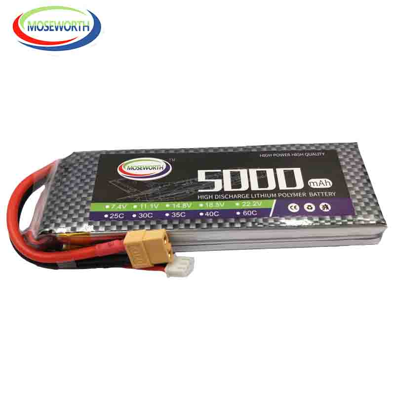 RC Drone <font><b>LiPo</b></font> Battery <font><b>2S</b></font> 7.4V <font><b>5000mAh</b></font> 25C For RC Helicopter Car Boat Quadcopter Airplane RC Toys Li-Polymer Batteries <font><b>2S</b></font> 5Ah image