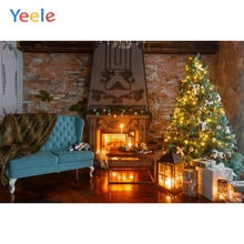 Yeele Christmas Background Photophone Winter Tree Fireplace Fire Sofa Photography Backdrop For Photo Studio Vinyl Photocall