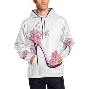 Butterfly Shoes on High Heel Men's Hoodies Sweatshirt Pullover 4XL