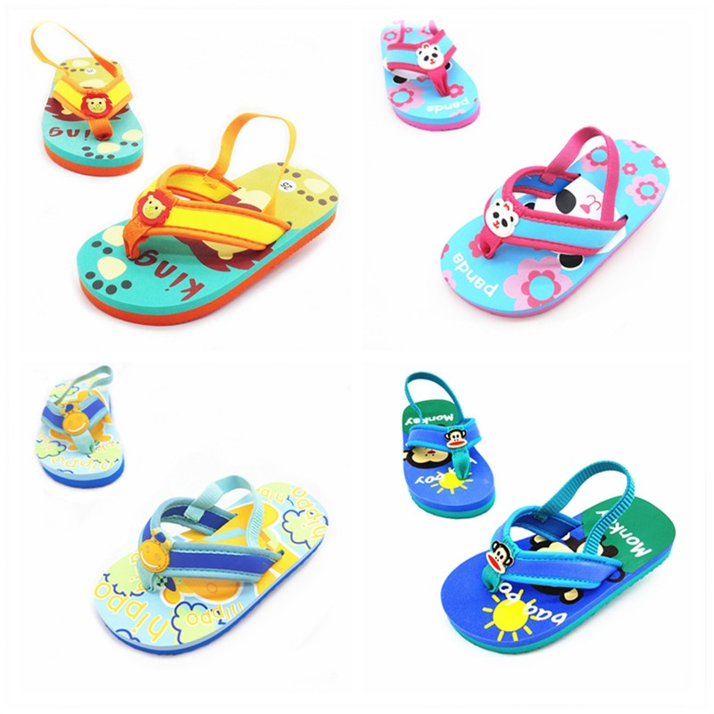 Hot Selling Summer Cute Lion Children Sandals Fashion Man GIRL'S Shoes Baby Soft Bottom Sandals Flip-flop Flip-flops