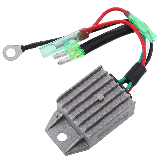 Boat Voltage Rectifier Regulator Fits for Yamaha 15HP 2-Stroke Motor Outboard Engines, Gray 5