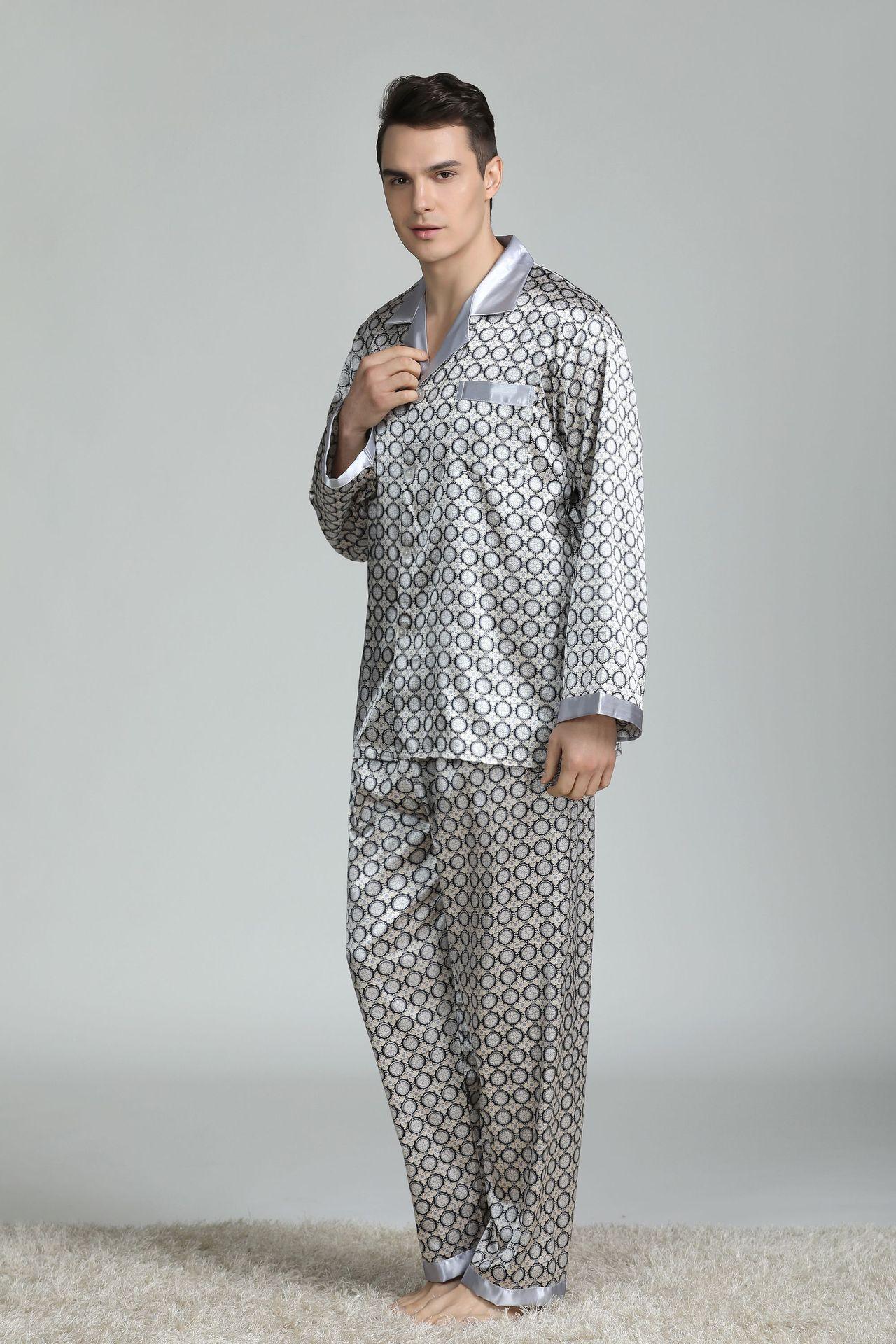 calças dois pijamas dos homens conjunto pijama