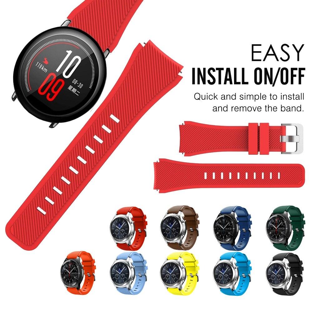 Цветной ремешок для часов Xiaomi Huami Amazfit Pace, силиконовый браслет для Amazfit 2/2S Stratos pace