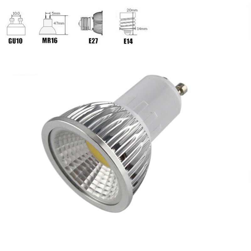 1-10 sztuk ściemniania GU10 lampka reflektorowa cob żarówka 9W 12W 15W 18W MR16 GU10 Led lampka lampy 12V 85-265V żarówka Led Lampada