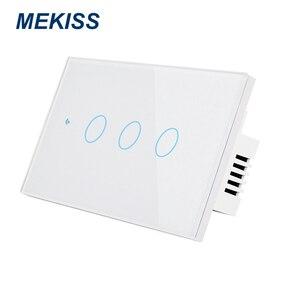Image 4 - MEKISS abd akıllı dokunmatik anahtarı ışık anahtarı WIFI ağ bağlantısı App akıllı kontrol 1gang2gang3gang4gang AC110V220V kesici
