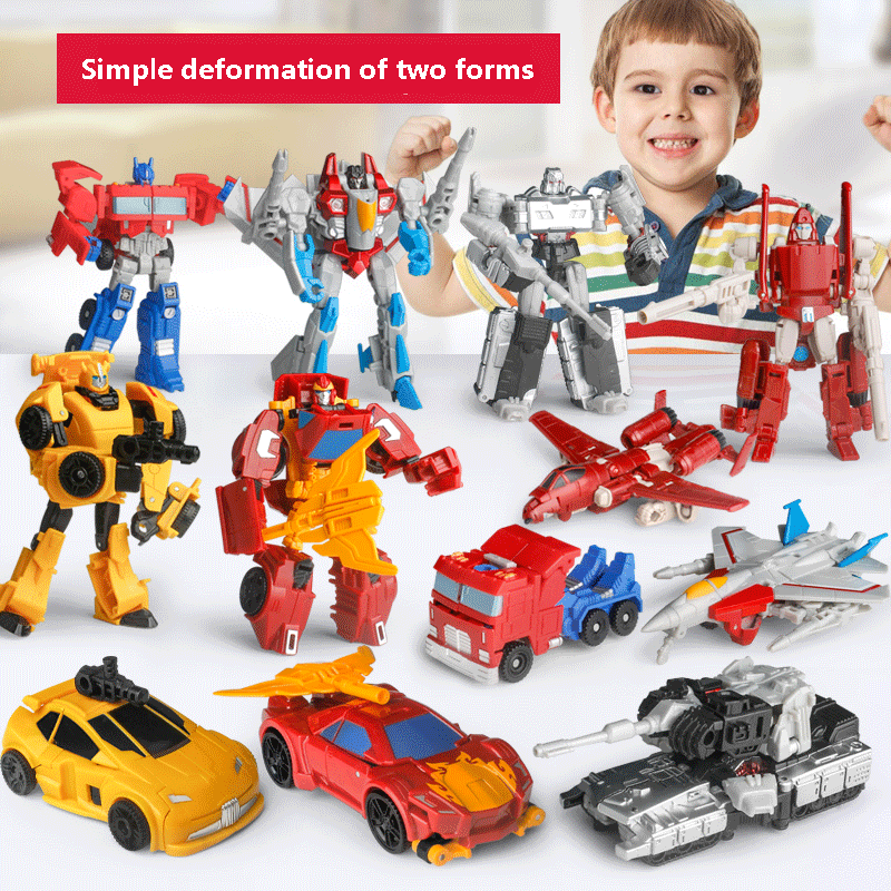 2019 Hot Sale Anime <font><b>Transformation</b></font> <font><b>4</b></font> Cars Robots <font><b>Toys</b></font> PVC Action Figures <font><b>Toys</b></font> Deformation Robot Model <font><b>Toy</b></font> for Boy juguetes image