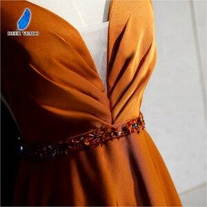 Image 5 - DEERVEADO เซ็กซี่เปิดกลับยาวกับ Beading Deep V คออย่างเป็นทางการโอกาส Party Dresses ชุดราตรี XYG820