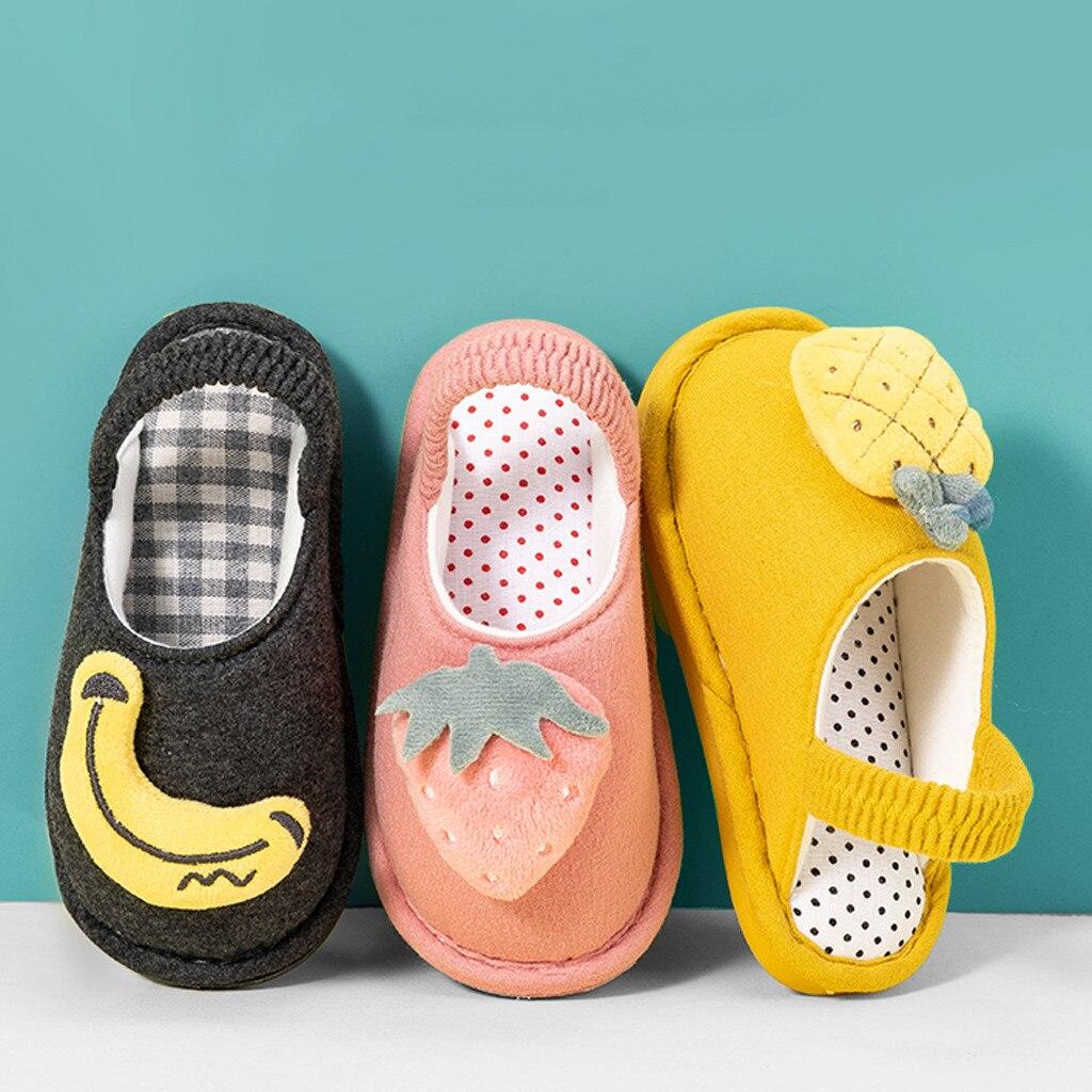 Toddler Boys Girls Fluffy Little Kids Shoes Warm Cute Animal Kid Home Slipper Children's Slippers Baby Slippers Children's Shoes