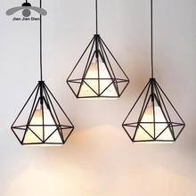 Современный подвесной светильник, черная железная подвесная клетка, винтажная светодиодная лампа, лампа E27, столовая, ресторан, барная стойка, промышленный Лофт, Ретро стиль