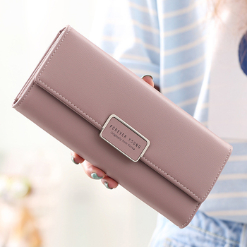 aliwood High Quality 3 Fold Women's Wallet Brand PU Leather Long Purse Clutch Coin Purse Phone Pocket Card Holder Large Capacity