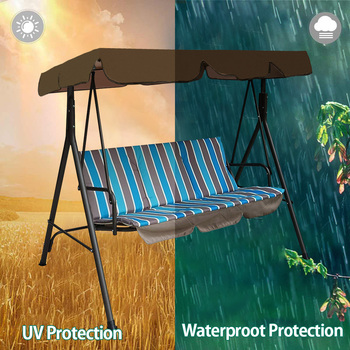Waterproof Patio Swing Canopy Cover Replacement For 3-Seater Garden Swing 6 Chair And Sofa Covers