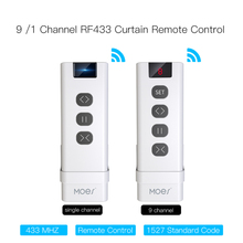 9 Channel RF433 Remote Control For WiFi Curtain Switch RF Roller Blinds Module Battery