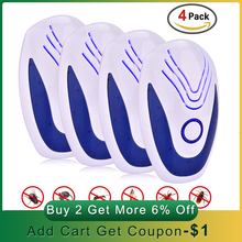 2/4/6 pcs Ultrasonic Mice Repeller Electronic Ultrasound Mouse Rejector Anti Mosquito Repellent Cockroach Bug Pest Rat Rejection