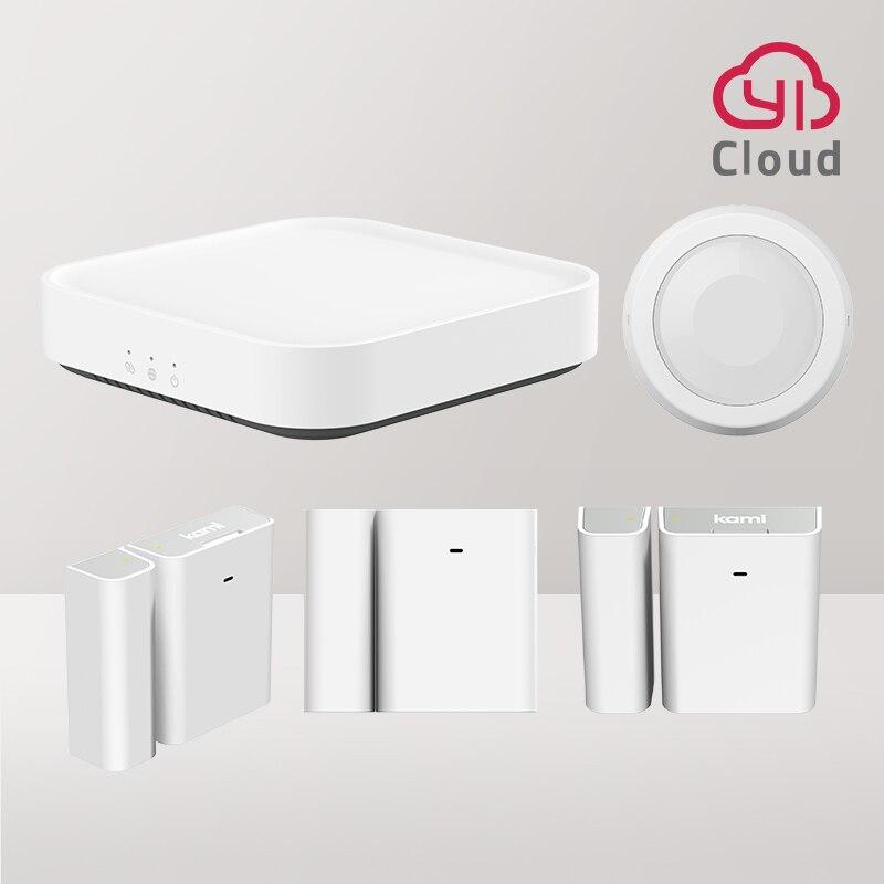 YI Kami умный комплект стартера безопасности с базовой станцией беспроводной входной датчик окна и двери PIR датчик обнаружения человека/питом...