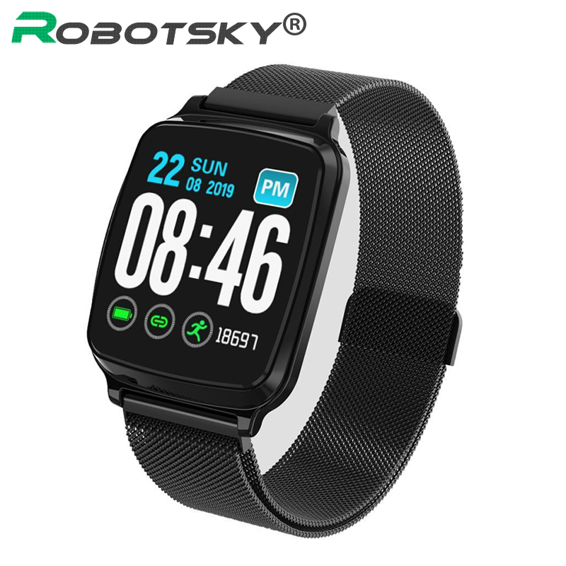 <font><b>M8</b></font> <font><b>Smart</b></font> <font><b>Watch</b></font> 2.5D 1.3inch full screen touch men waterproof Multi-sports modes blood pressure monitor Fitness tracker <font><b>watch</b></font> image