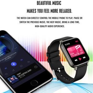 Image 5 - נשים של שעונים P36 Smartwatch כושר Tracker לחץ דם קצב לב צג ספורט גבירותיי גברים של שעונים עבור IOS אנדרואיד