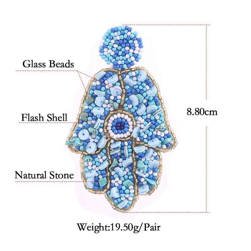 Beads Earrings for women boho drop earrings For women statement earrings oorbellen size