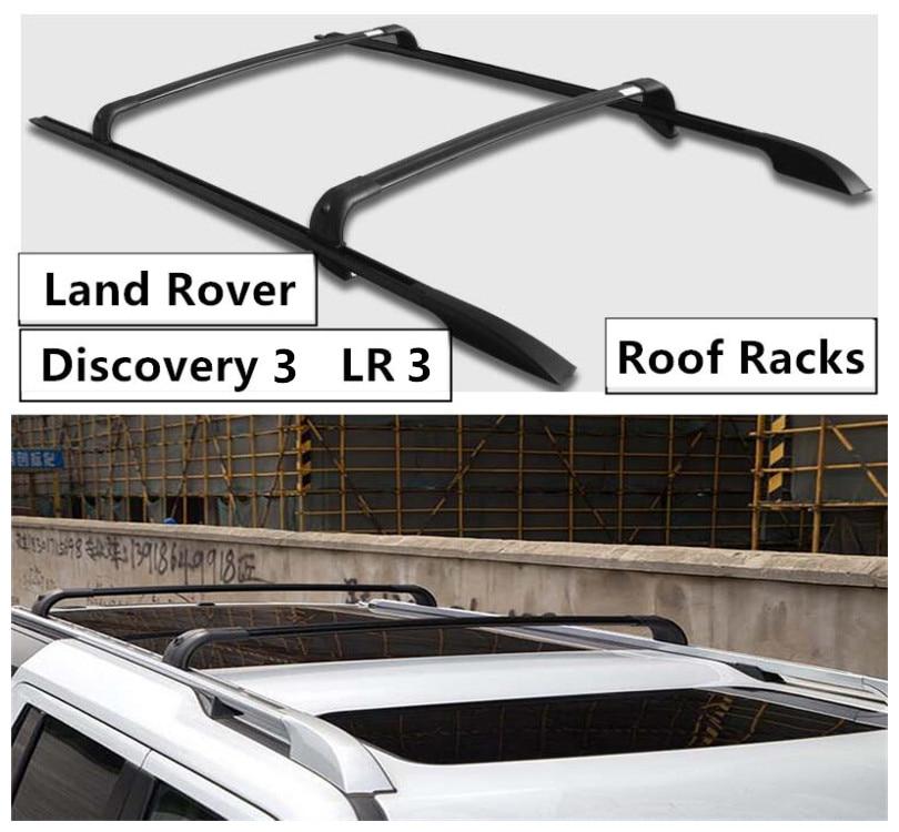 Pour Land Rover Discovery 3 LR3 2003-2009 barres de toit barre de porte-bagages croisée accessoires en alliage d'aluminium de haute qualité