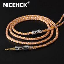 NICEHCK C16 2 16 Core cuivre argent câble mixte 3.5/2.5/4.4mm prise MMCX/2Pin/QDC/NX7 broche pour LZ A7 ZSX V90 TFZ NX7 MK3/DB3 BL 03