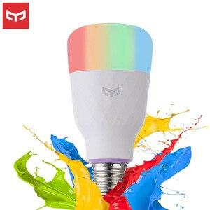 Image 1 - [אנגלית גרסה] Yeelight חכם LED הנורה צבעוני 800 Lumens 10W E27 לימון חכם מנורת עבור Mi הבית אפליקציה לבן/RGB אפשרות