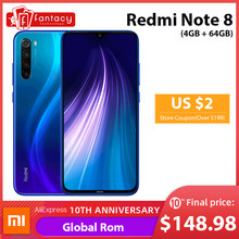 "Nowy globalny ROM Xiaomi Redmi Note 8 4GB 64GB 48MP Quad Camera Smartphone Snapdragon 665 octa core 6.3 ""ekran fhd 4000mAh(China)"