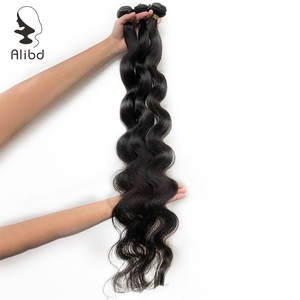 Hair-Weave Virgin-Hair Brazilian Natural-Color Bundles Body-Wave Long 30-32-34-36-Inches