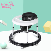 infant shining 6 18 Months Baby Walker Kids Balance First Steps Toddler Early Educational Trolley Learning To Stand Walker