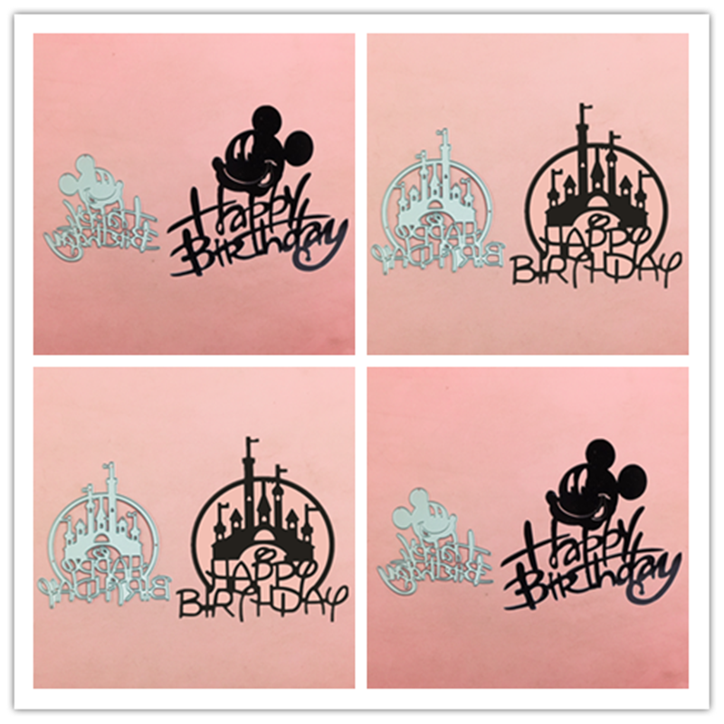 Mickey Letter Frame Castle Metal Cut Dies Stencils For Scrapbooking Stamp/photo Album Decorative Embossing DIY Paper Cards