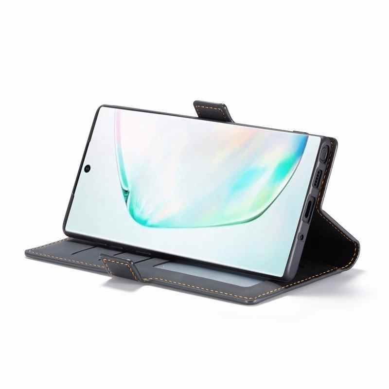 Kapak Samsung kılıfı Galaxy Note 10 artı kılıfları lüks manyetik kapak düz mat cüzdan telefon çanta Samsung not 10 artı etui