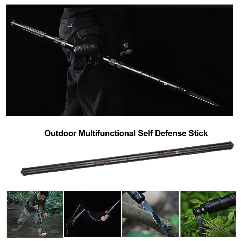 Outdoor Multi Modes Self Defense Stick Safety Multifunctional Car Defensive Protection Rod For Hiking Camping Emergency Survival