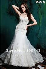 free shipping 2017 sexy new hot bridal bride dress vestido de noiva long custom appliques beaded mermaid lace wedding dresses