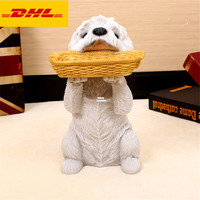 14Cute Puppy Statue West Highland White Terrier Bust Basket Full Length Portrait Decoration GK Action Figure Toy BOX 35CM V824