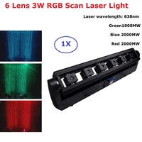6 Lens Scan Laser Light Line Beam Moving Head 3W RGB Laser Light Laser Dj Projector DMX Christmas Laser Light Projector Indoor|Stage Lighting Effect| |  -