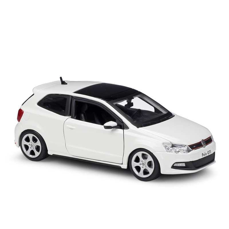 1/24 VW POLO GTI MARK 5 Alloy Diecast Racing Model Cars Static Simulation Mini Car Collection Toys Miniature <font><b>Voiture</b></font> Metal Cars image