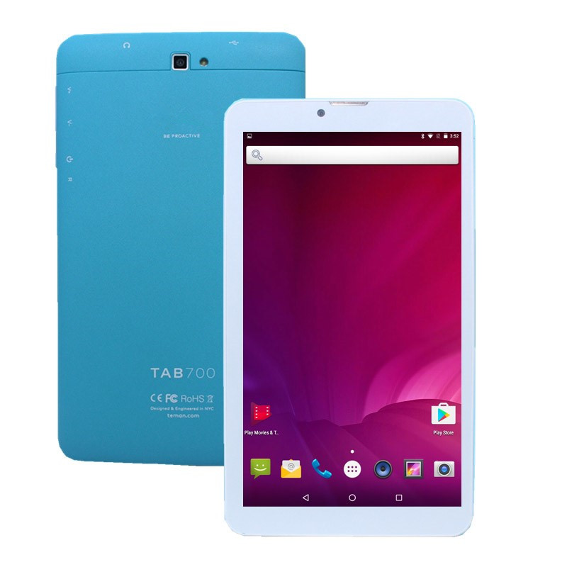 4G LTE 7 Inch HD IPS Screen Tablet PC Android 6.0 Kids 1GB+ 8GB MTK8735 Quad Core 1024*600 GPS Kids Blue Tablet