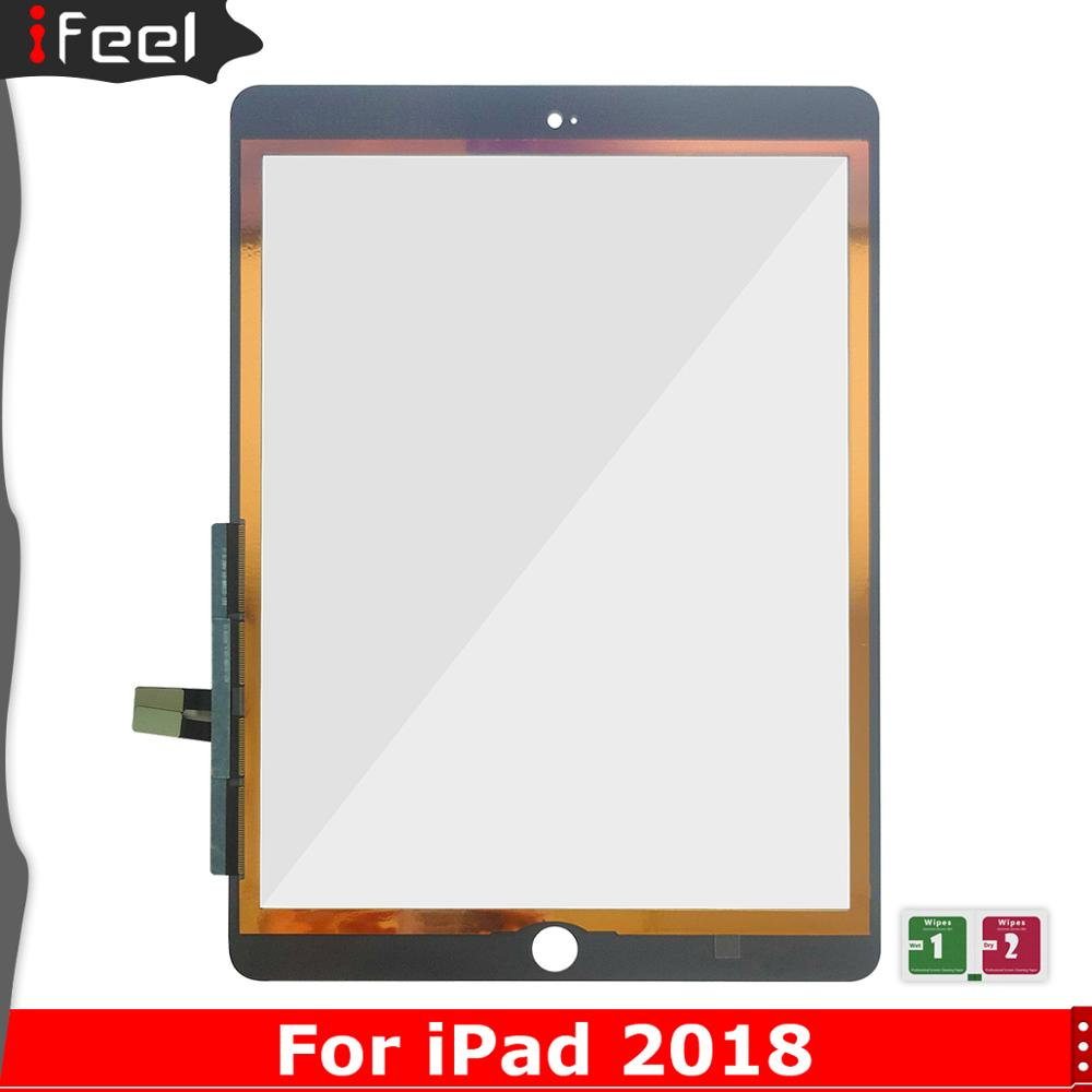 For iPad 2018 Touch Screen Digitizer For iPad 6 iPad 9.7 2018 A1893 A1954 Touch Screen Glass Panel Replacement Sensor No Key