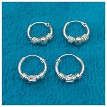 925 sterling silver earrings Small hoop Earrings for women Round Silver ear rings