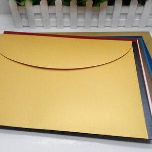 Image 5 - 20 шт./лот, конверты А4 в западном стиле, жемчужная бумага #9, цветные конверты для документов, файлов, фотографий, Прямая поставка