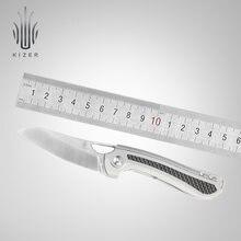 Карманный нож kizer из углеродного волокна и титановой ручки