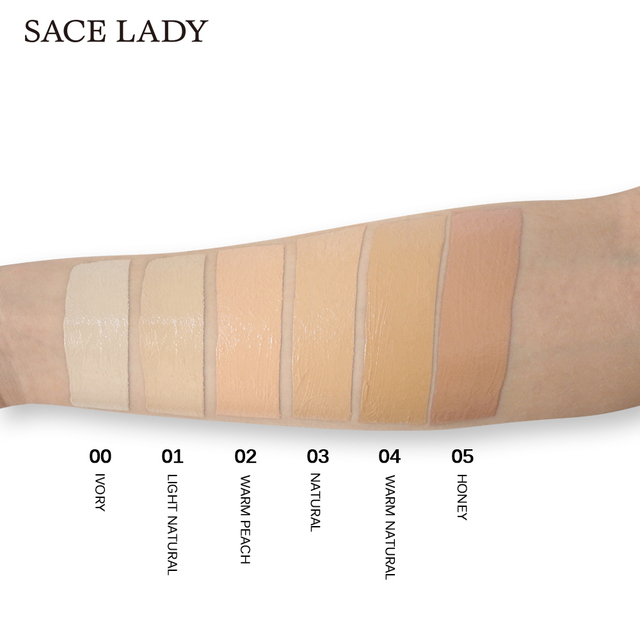 SACE LADY Full Cover 8 Colors Liquid Concealer Makeup 6ml Eye Dark Circles Cream Face Corrector Waterproof Make Up Base Cosmetic 2
