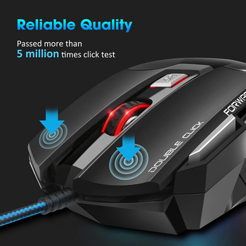 Computer Mouse Gamer Ergonomic Gaming Mouse USB Wired Game Mause 5500 DPI Silent Mice With LED Backlight 7 Button For PC Laptop 2
