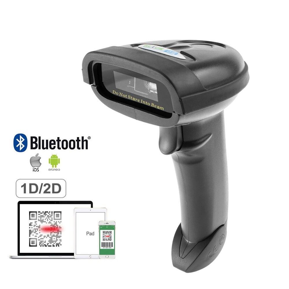 NT-1228BL Беспроводной 2D QR сканер штрих-кода Bluetooth считыватель штрих-кодов большого 2D сканер для Мобильных Платежей